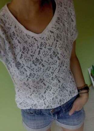 e073148df1ef19 Süßes Spitzenshirt weiß durchsichtig | Kleiderkreisel | Pinterest ...
