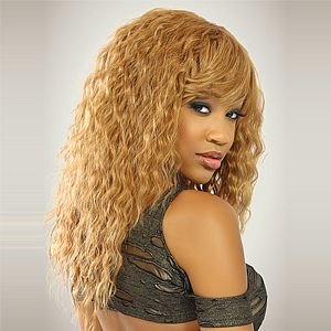 Kara Michelle Human Hair Blend Weave Spanish Wave Spiral Curls Half Wigs Hairstyles