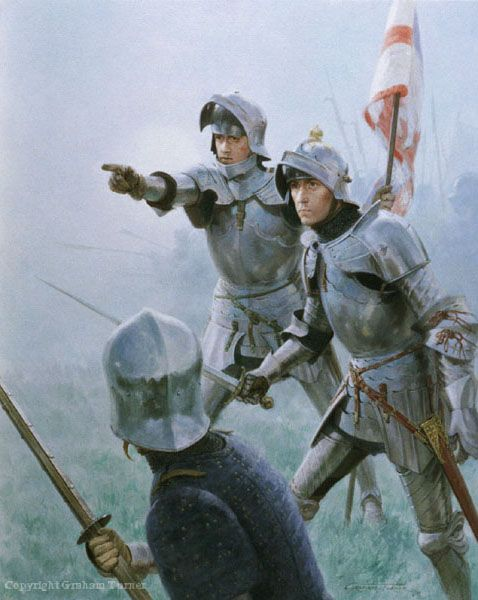Richard at the Battle of Barnet. Challenge in the Mist by Graham Turner Reproduced by kind permission of the artist  www.studio88.co.uk