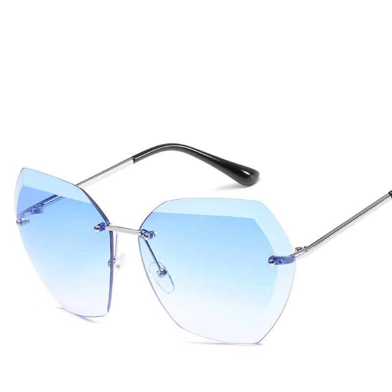 f4f028ec21 2018 New Arrival Rimless Sunglasses Women Brand Designer Vintage Ladies  Sunglass Driving For Women Female Sunglass