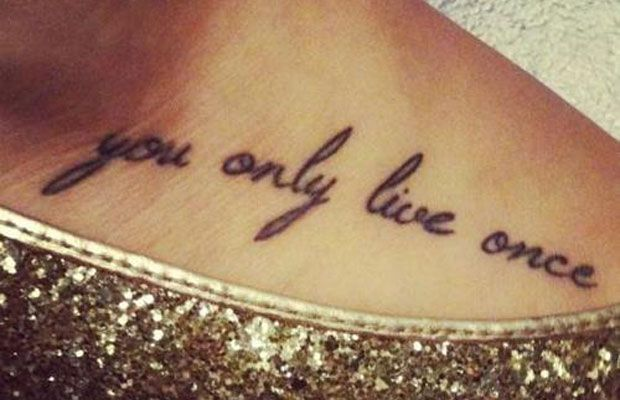 Gallery 40 Inspiring Yolo Tattoos Tatoeage Ideeen Tatoeage