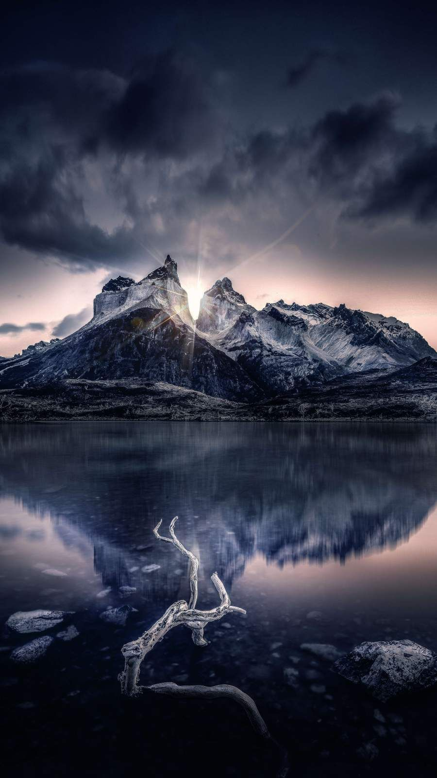 Snow Mountain Reflection iPhone Wallpaper   Nature ...