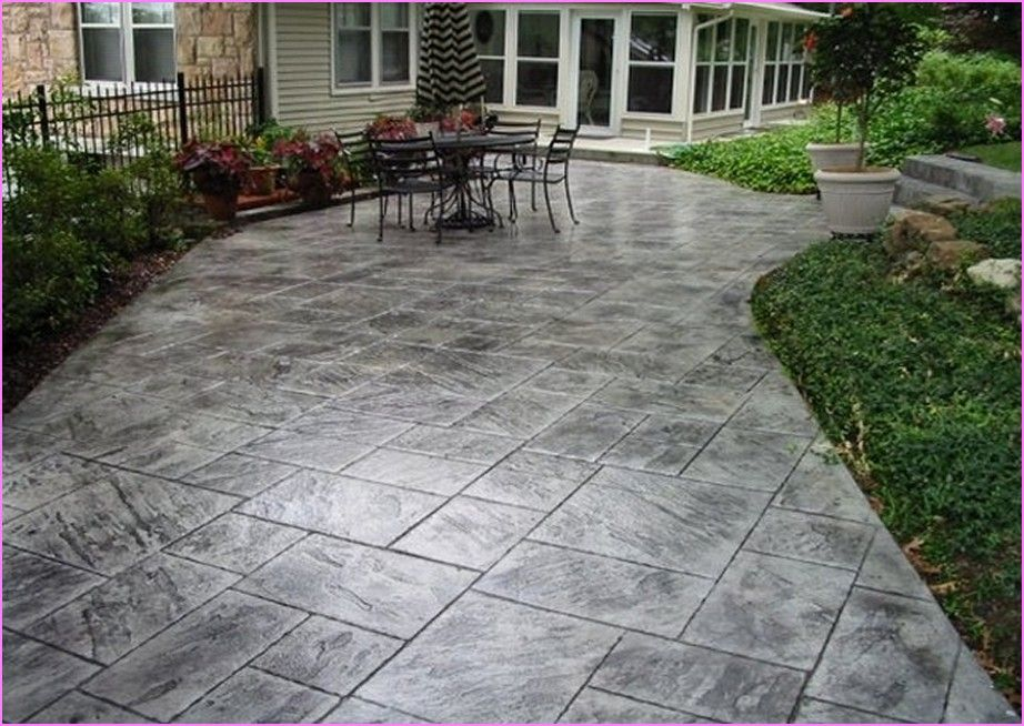 slate stamped concrete patio lammy pinterest stamped