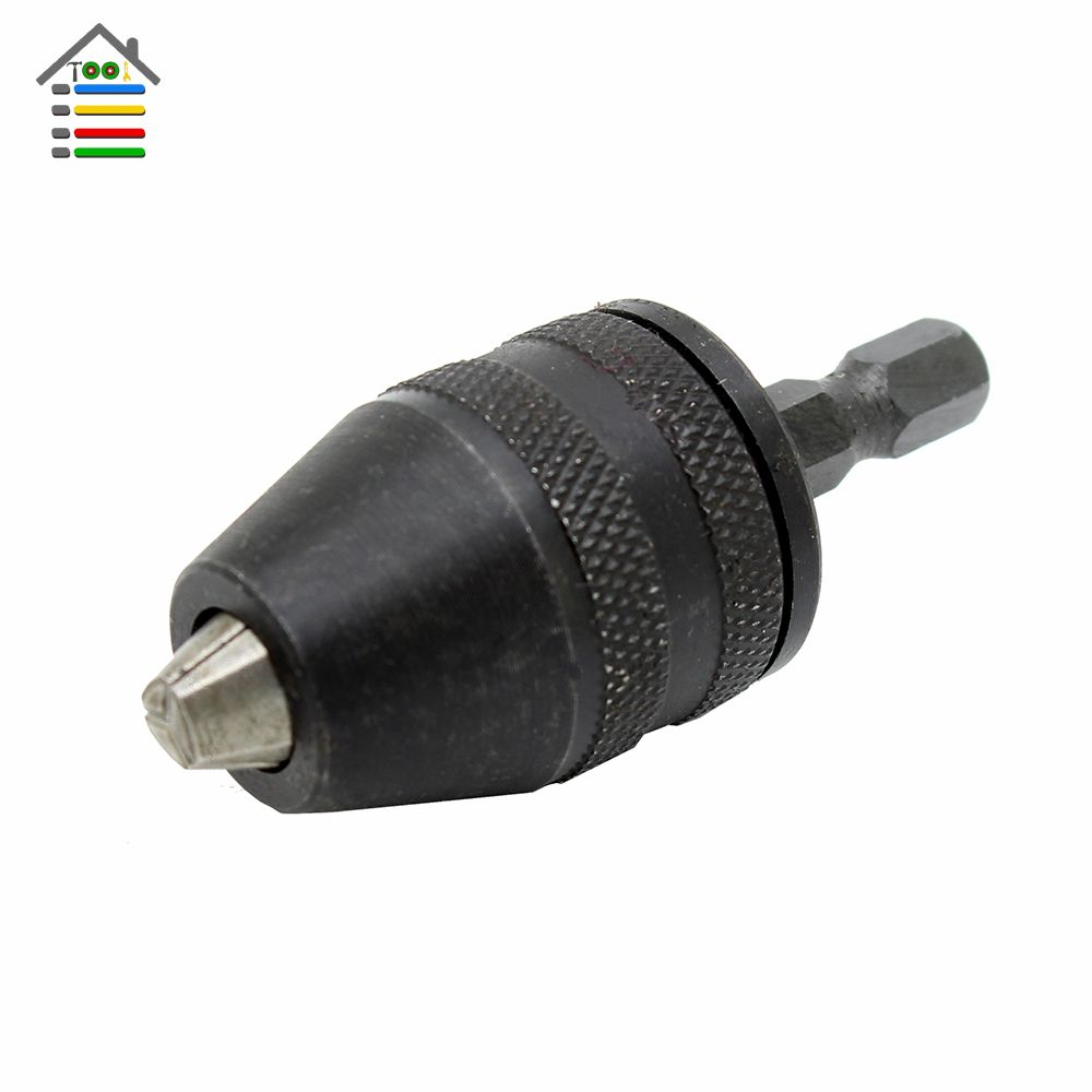 New Keyless Drill Chuck Adapter 1 4 6 35mm Hex Shank Screwdriver Impact Driver Electric Drill Drills Power Tool Free Shippi Power Tool Accessories Tools Drill