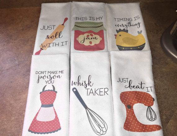 Funny Dish Towels   Foodie Gift   Unique Kitchen Towels   Gift For Wedding  Shower   Fun Hostess Gift   Funny Kitchen Decor   Gift For Chef