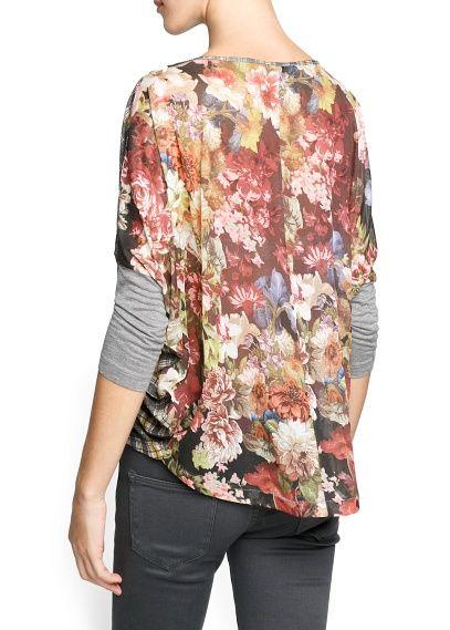 Loose-fit combi t-shirt