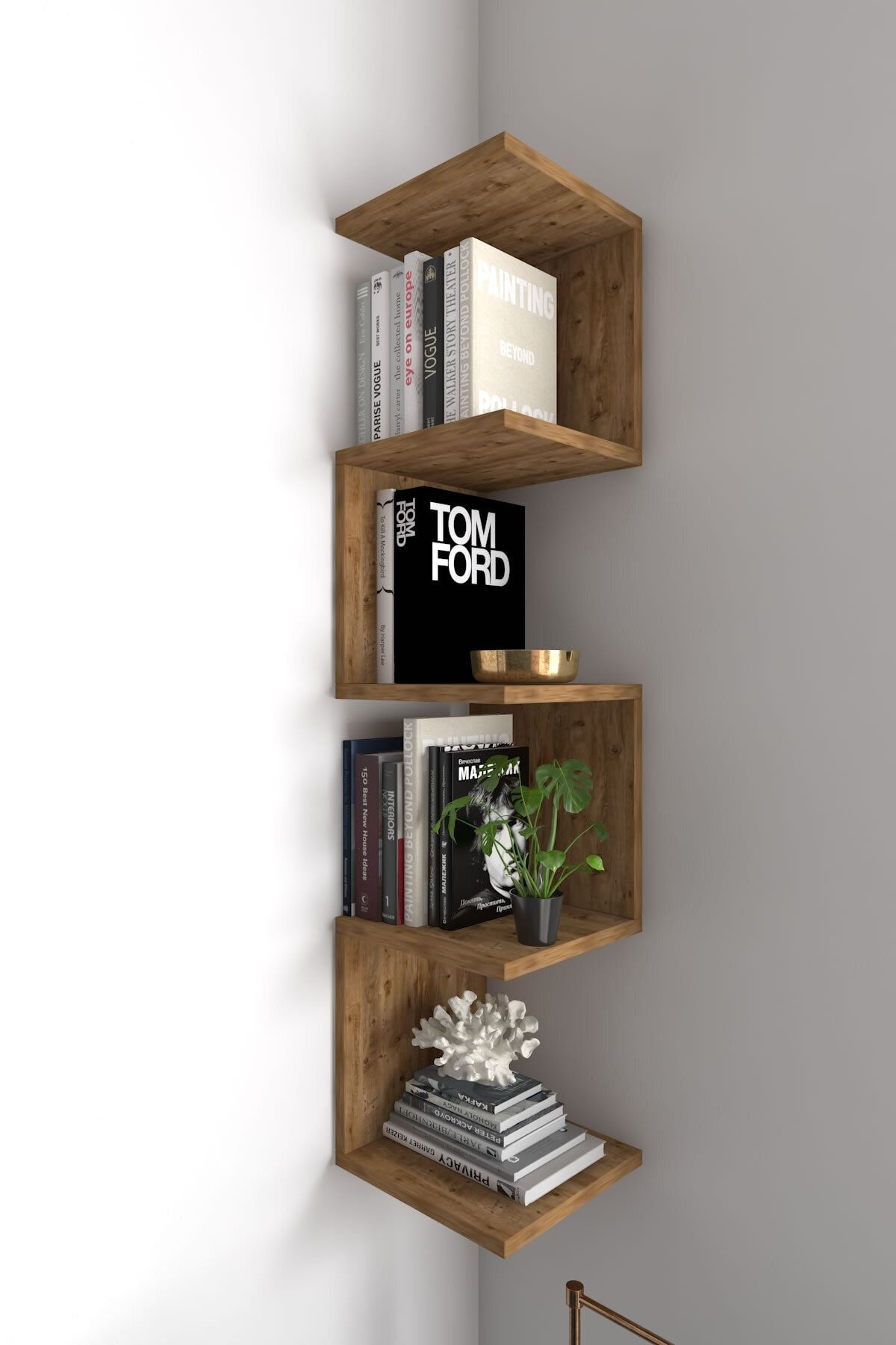 Corner Wall Shelf Bookcase Bookshelf Wall Mounted Book Etsy In 2020 Corner Wall Shelves Corner Bookshelves Wall Shelves