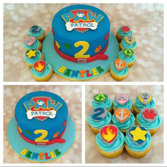 Only place your orders if they are needed after May 10th  Fondant edible Paw Patrol shield logo cake topper cake decorations - Paw patrol cake, Paw patrol cupcakes, Paw patrol chase cake, Cupcake cakes, Cake, Paw patrol - fondantpawpatrolcupcaketopperspups Not all toppers will be exactly alike   Made from vanilla fondant and is edible In the Notes to Seller at checkout, please let me know your event date and color preferences if different than pictured All decorations are madetoorder  Please place your order at least 23 weeks in advance of your event to ensure a timely arrival  If you need it sooner, I will try to accommodate a tighter schedule; please contact me before ordering  Rush processing fee may apply   You may place your order if your event date is more then 23 weeks away  My availability fills up quickly for each week so it's best to you your orders in, the sooner the better  I don't ship them out until it is closer to your event date to ensure freshness  I ship USPS priority mail and includes $50 00 insurance with each order unless otherwise listed  Please note, Priority mail is generally 23 days, but it is not guaranteed  Please see shop policies for more information  Some coloring and fondant is processed in facilities that process tree nuts, egg, milk, soy and wheat products  THANK YOU FOR SUPPORTING HANDMADE GOODS!!Wilton fondant is used for these toppers   Ingredients  SUGAR, WHEAT SYRUP, PALM OIL, WATER, GLYCERIN, GUM TRAGACANTH, TAPIOCA STARCH, SODIUM CARBOXYMETHYL CELLULOSE, NATURAL AND ARTIFICIAL FLAVOR, TITANIUM DIOXIDE (COLOR), SODIUM ACETATE, ACETIC ACID  ‼️THESE ARE NOT GLUTEN FREE‼️