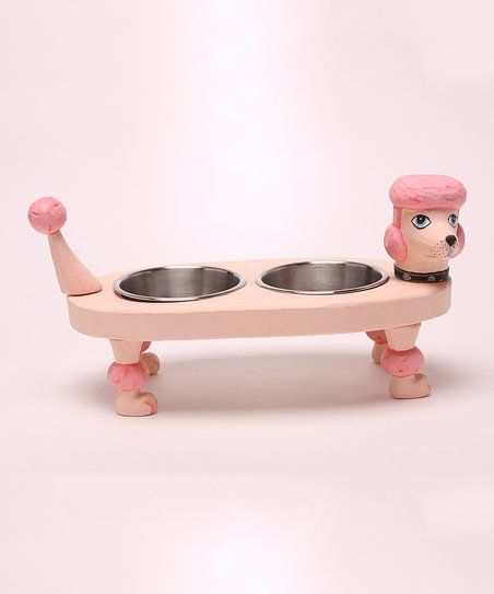 Keep your best friend full and happy with this adorable tray, featuring a fun design and two durable bowls.