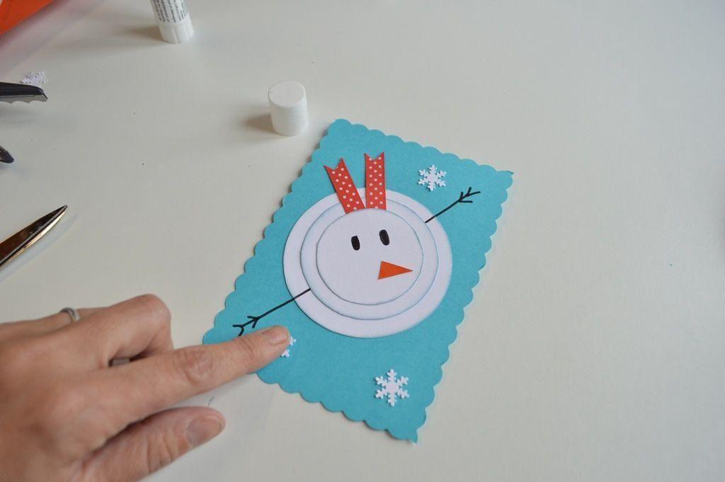 Si este año te apetece hacer una tarjeta de Navidad hecha a mano, no