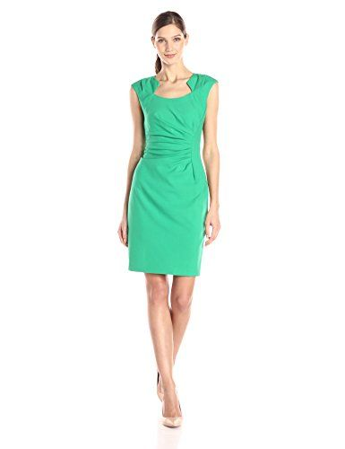 Calvin Klein Women's Cap Sleeve Side Rouched Sheath Dress, Grass, 2 Calvin Klein http://www.amazon.com/dp/B00TPNUDGY/ref=cm_sw_r_pi_dp_P3Tjvb1AXSX7G