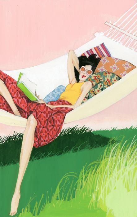 Resultado de imagen para mujer de vacaciones caricatura