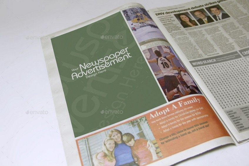 NewspaperAdvertisingMockupsVol  Mockup