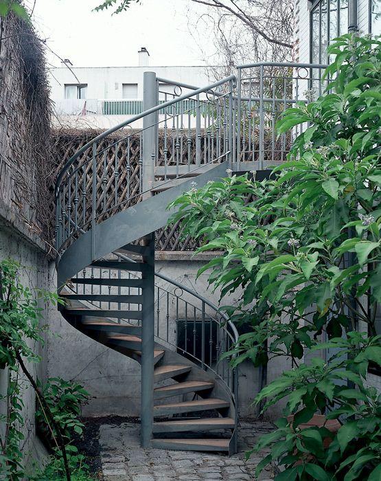 Dh11 Spir Deco Caisson Escalier Exterieur Metallique Helicoidal Avec Rampe En Fer For Escalier Exterieur Escalier En Colimacon Escalier Colimacon Exterieur