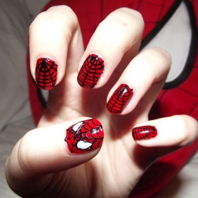 Spidey nails 2
