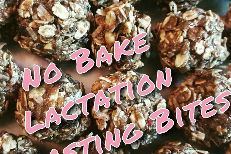 Grab this delicious No bake Lactation Boosting Bits recipe to increase milk supply (& satisfy your sweet tooth!). www.MamaCurtiss.com #breastfeeding #lactation