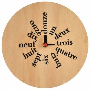 french clock - cool type