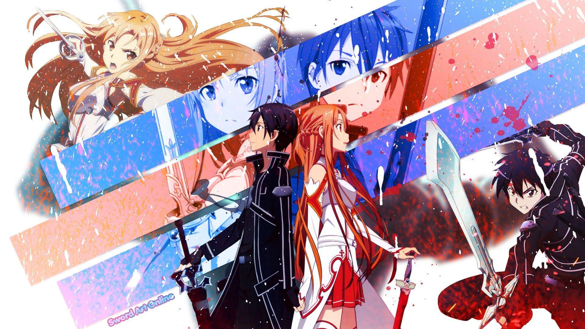 Yuuki Asuna Anime Girls Kirigaya Kazuto Sword Art Online 1080p Wallpaper Hdwallpaper Desktop In 2020 Sword Art Online Wallpaper Sword Art Online Kirito Sword Art