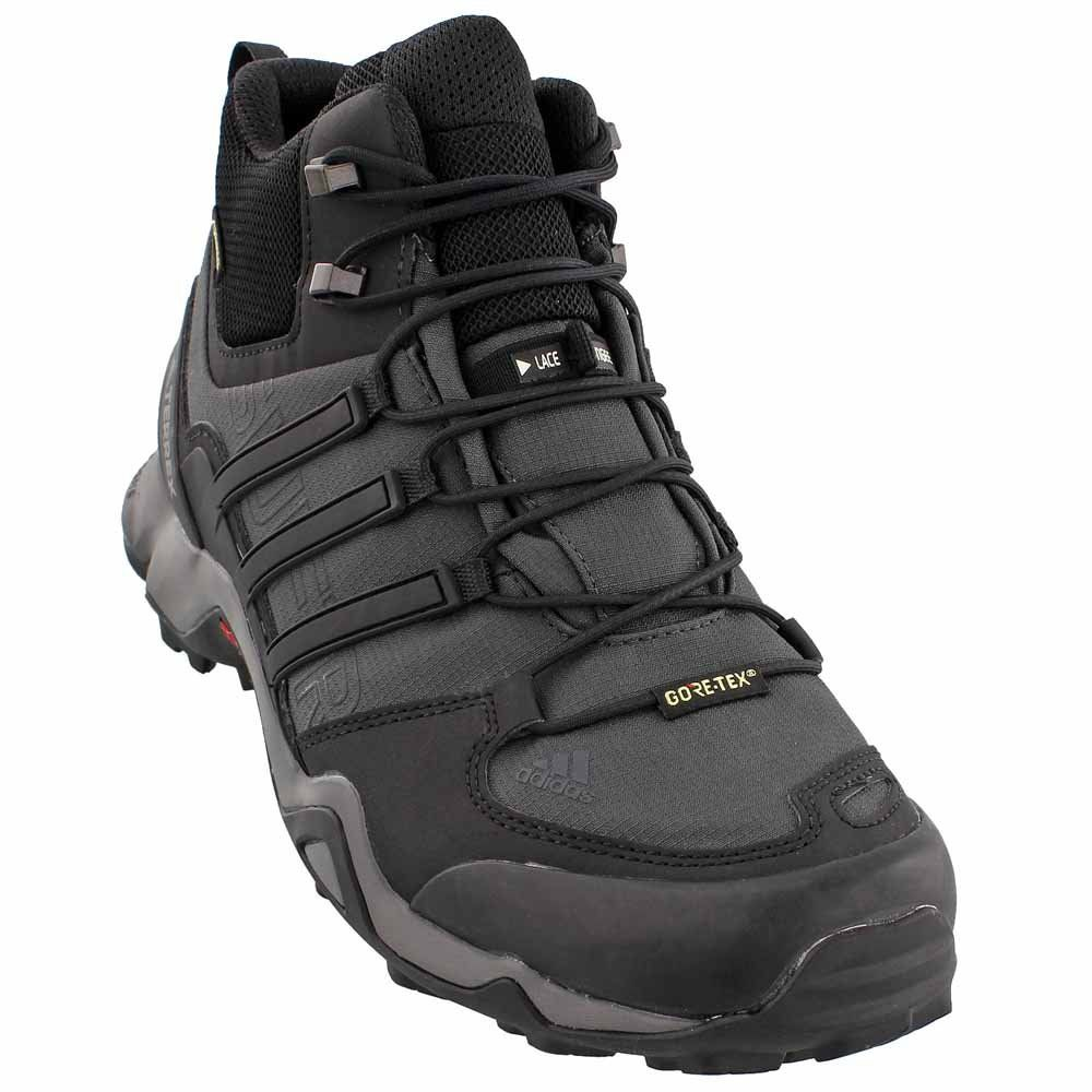 brand new 79f0e e7e60 adidas Terrex Swift R Mid GTX Boot Mens Hiking 7 Dark GreyBlackGranite     Want to know more, click on the image. (This is an affiliate link)