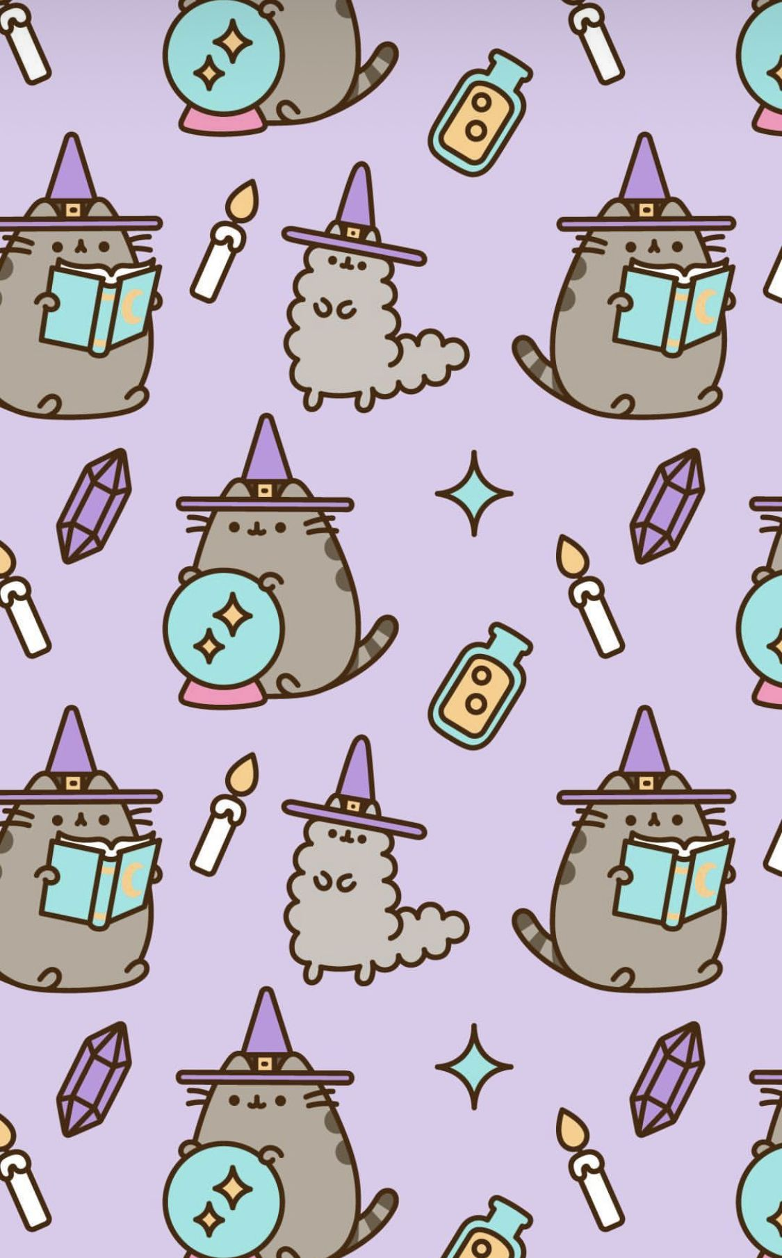 Meowgic Gato Pusheen, Halloween Backgrounds, Halloween Wallpaper, Cute Backgrounds, Phone Backgrounds,