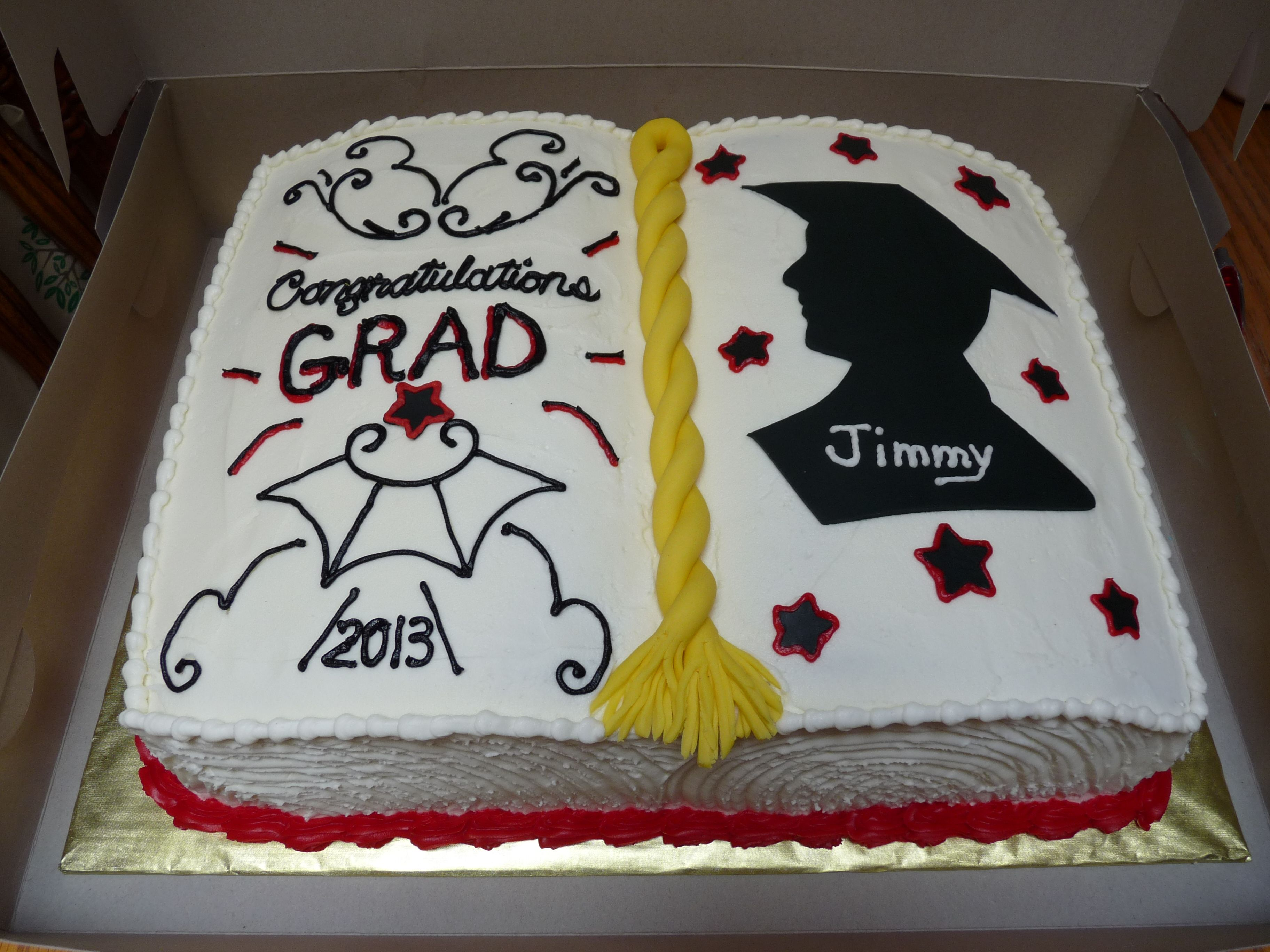 Open Book Graduation Cake With Images Graduation Cakes Open