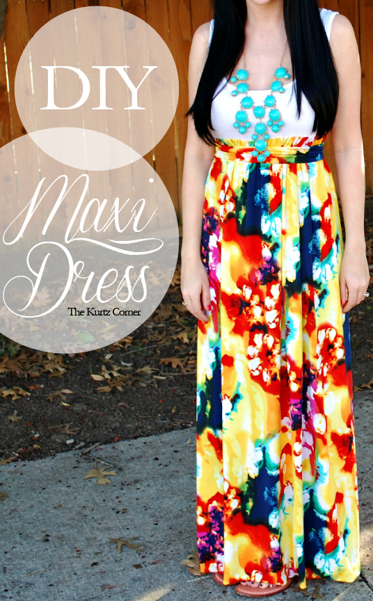 DIY Maxi Dress with step by step tutorial! Making these for summer ...