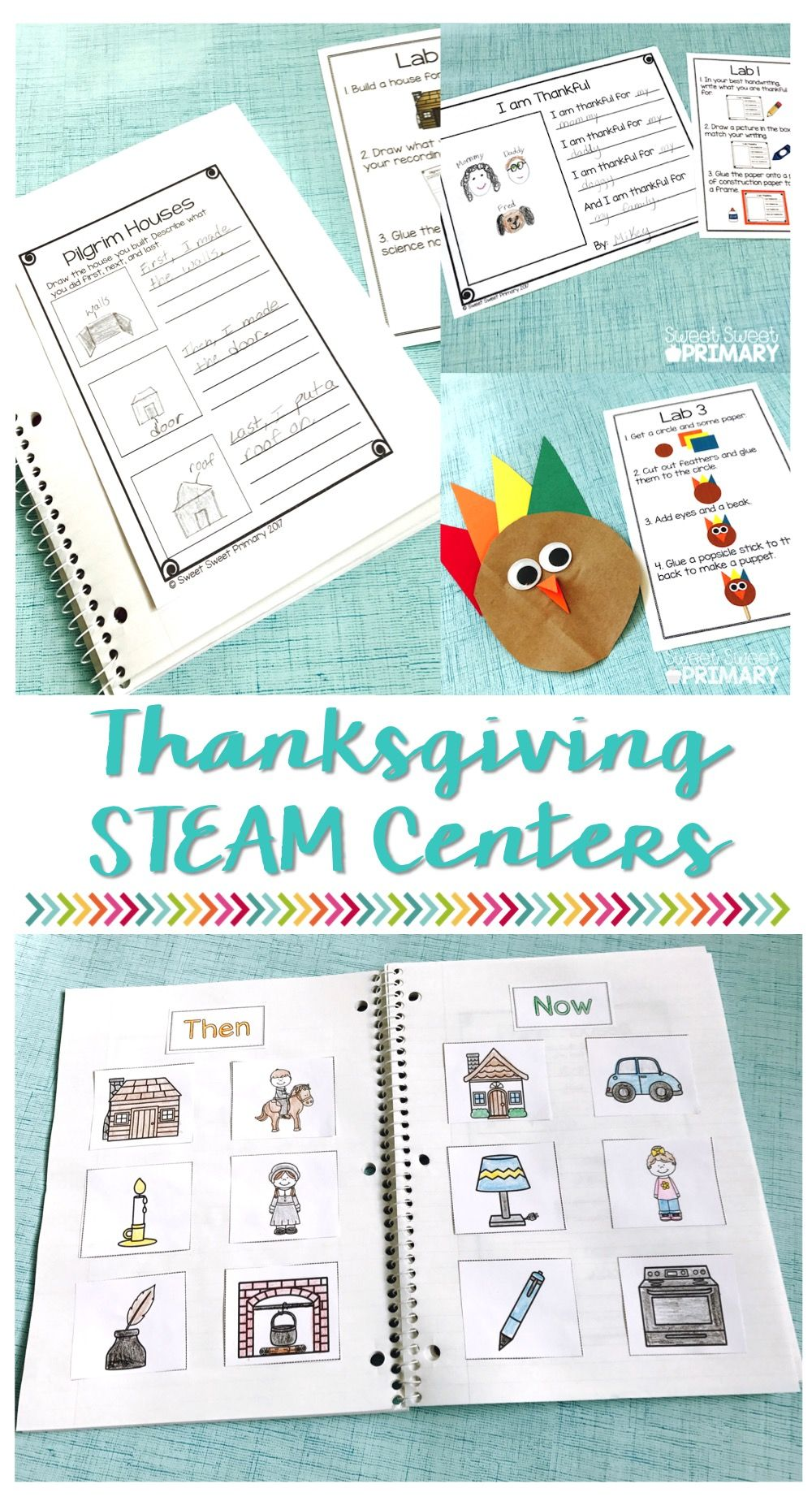 Thanksgiving STEAM Units Bundled!   Science Centers for Primary ...