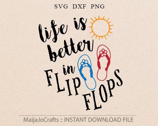 Summer SVG Flipflops svg Flip flops svg Beach svg Sea svg