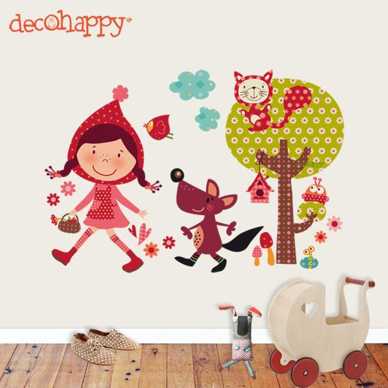 Decoraci n kireei cosas bellas part 18 caperucita for Vinilos habitacion infantil