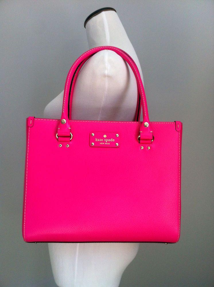 Nwt Kate Spade Wellesley Quinn Leather Purse Handbag Pink Shire In Handbags Purses Ebay