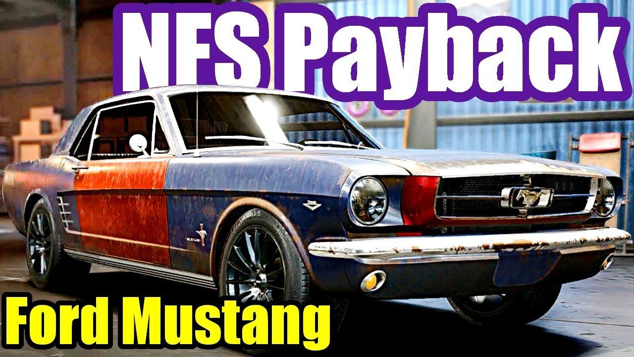 Need For Speed Payback 13 Ford Mustang Derelict Car Parts