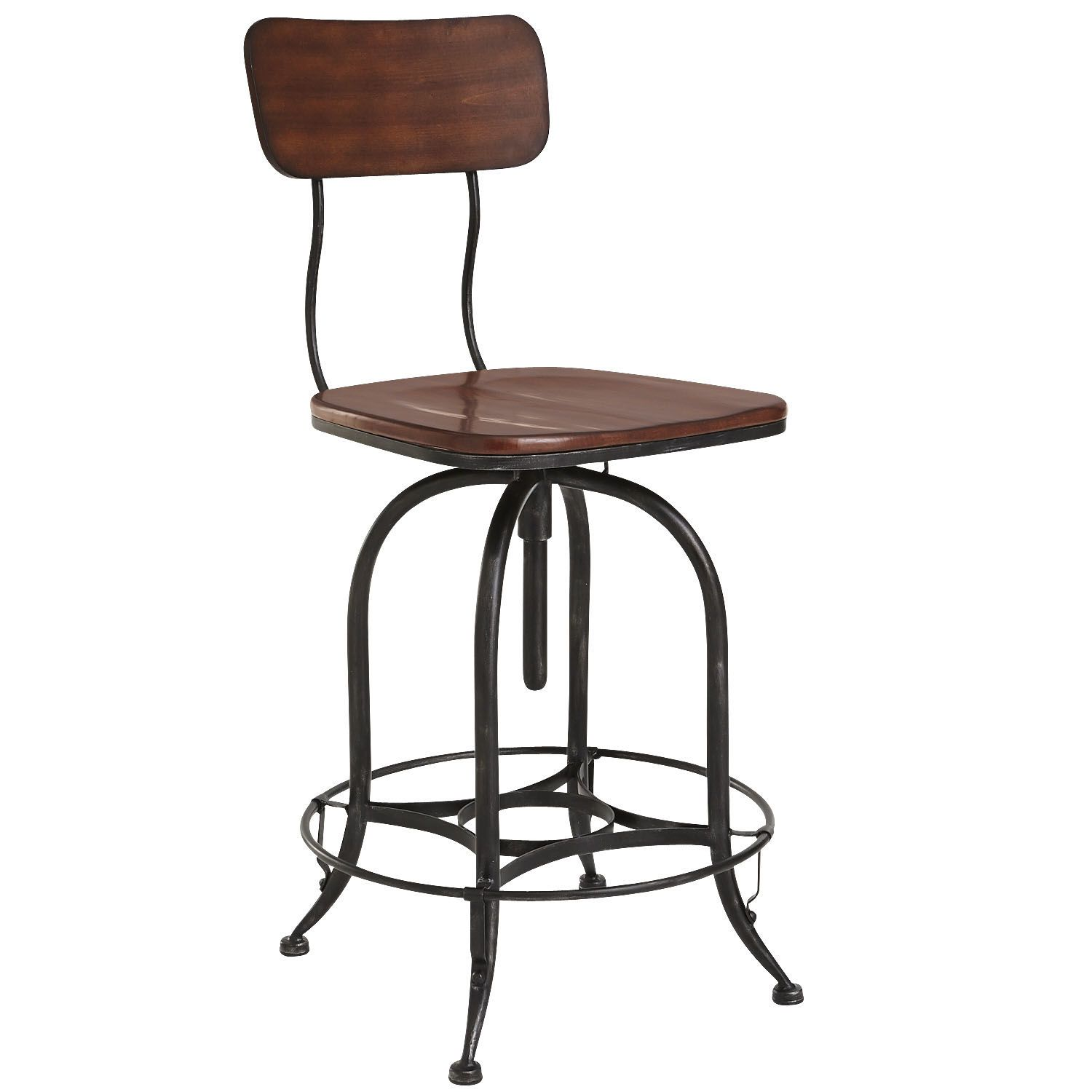 Stool Height For Kitchen Island Cm: Stanford Swivel Counterstool - Wood