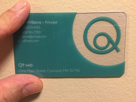 tech company plastic business card