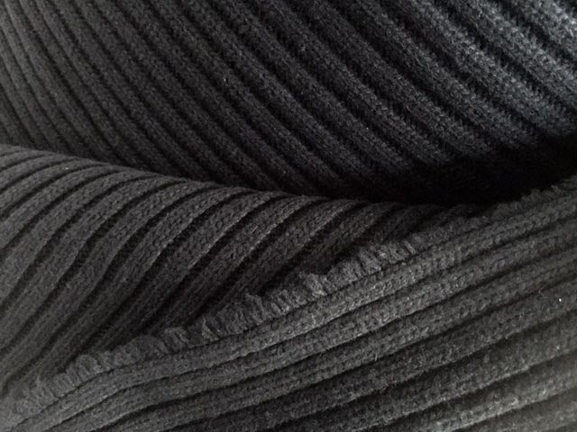 Wool Fabric - BEAUTIFUL 100%  Thick Ribbed WOOLEN  FABRIC - The Ebony