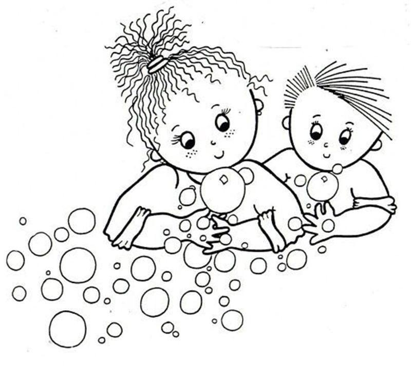 El Temizligi Boyama Sayfasi Okul Oncesi Etkinlik Faaliyetleri