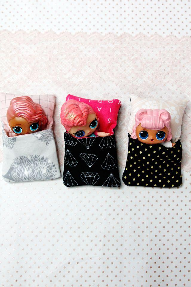 Little Doll Sleeping Bag Tutorial | Girls | Dolls, Lol dolls, Sewing