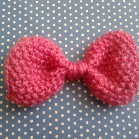 Knitted Bow Knit One Purl One Pinterest Knitting Seed Stitch