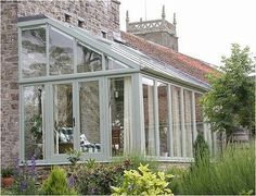 shallow sloping glass roof conservatory - Google Search