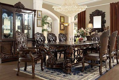 Gorgeous Dark Dining Set 9 Pchomey Design Hd 8006  Furniture Amusing Old Fashioned Dining Room Sets 2018