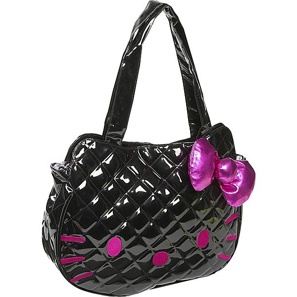 aeb8689975 Special Offers Available Click Image Above  Loungefly Hello Kitty Black  Quilted Face Bag - Tote