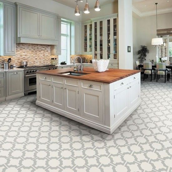 Kitchen Floor Tile Ideas Flooring Options With White Cabinets Best
