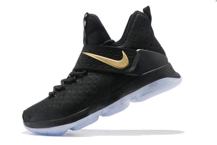 Free Shipping Only 69$ Nike LeBron 14 XIV Black Metallic Gold Championship  For Sale