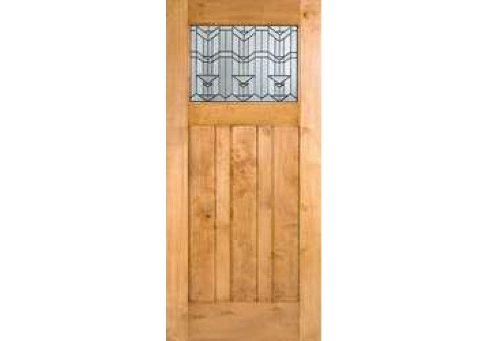 Craftsman1lite Knotty Alder Craftsman 1 Lite Door With Beveled Glass 1 3 4 Exterior Entry Doors Eto Doors Craftsman Exterior