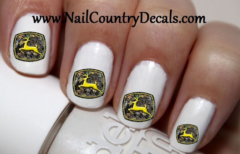 50 pc Camo John Deere Nail Decals Nail Art Nail Stickers Best Price ...