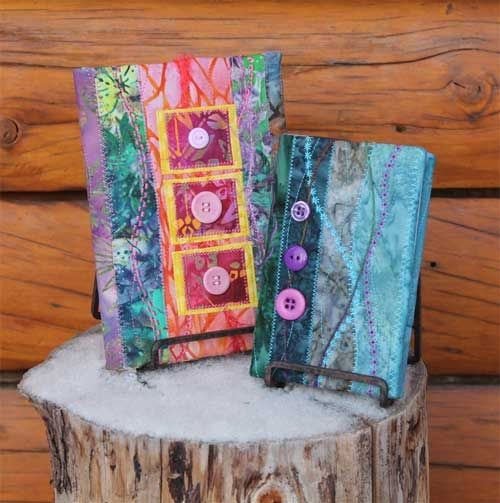 Easy Fabric Book Cover Patterns ~ Quilted book covers free sewing tutorial