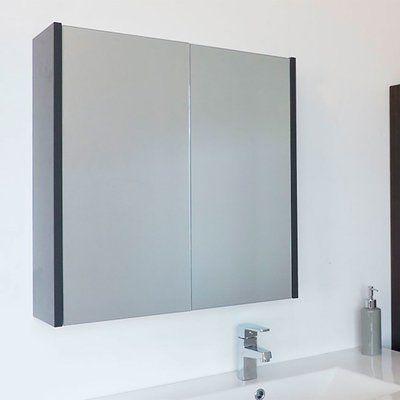 Wrought Studio Caelum Modern Bathroom Mirror 24 X 24 Surface