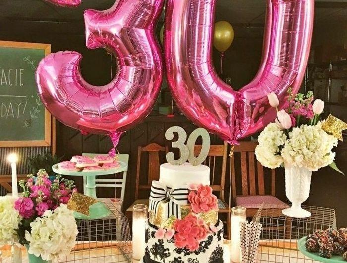 D co table anniversaire astuces et conseils en 71 photos bon savoir 30th - Idee deco table anniversaire ...