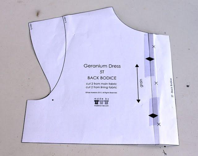 Groovybaby....and mama: Geranium Dress - inserting a zipper/Geranium Kjole med lynlås