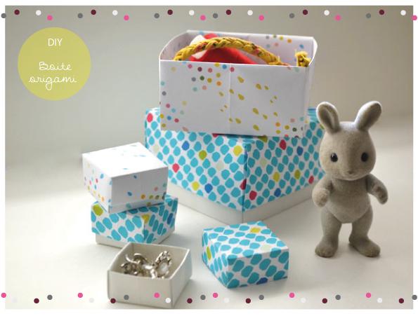 Boite De Rangement Pour Enfant A Realiser En Origami Bricolage