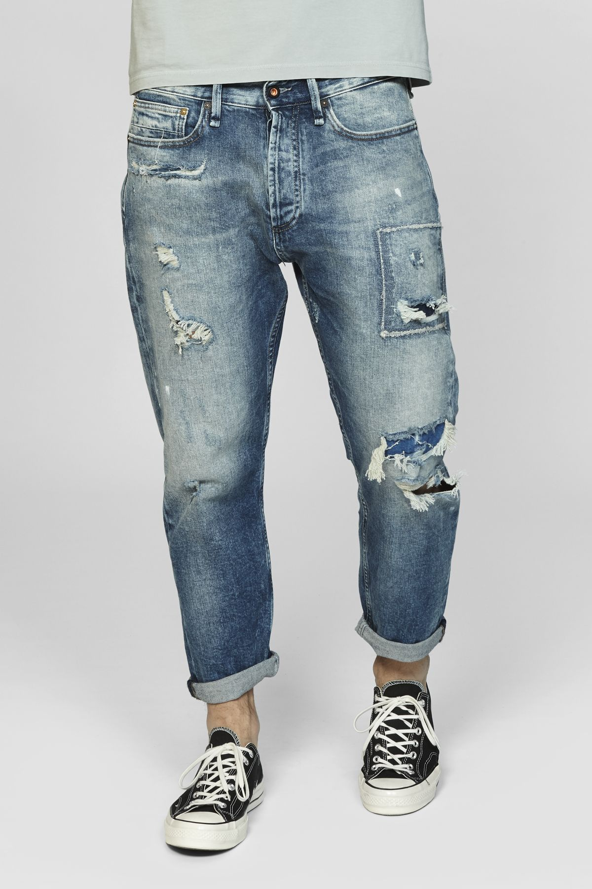 Crop Loose Carrot Fit Jeans GRLV · DENHAM | Jeans fit